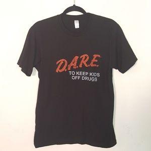 D.A.R.E. Black Graphic Tee